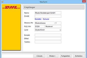 KremaWare DHL Schnittstelle